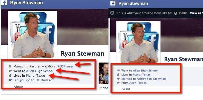 facebook profile set up