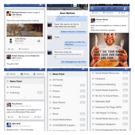 Facebook Mobile App Update with Chatting Heads